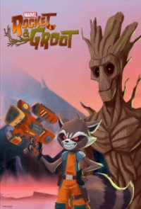 Poster, Marvel's Rocket & Groot Serien Cover