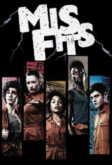 Poster, Misfits Serien Cover